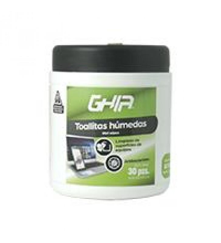 TOALLAS HUMEDAS LIMPIADORAS GHIA 30 PZS PROTECCION ANTIBACTERIAL