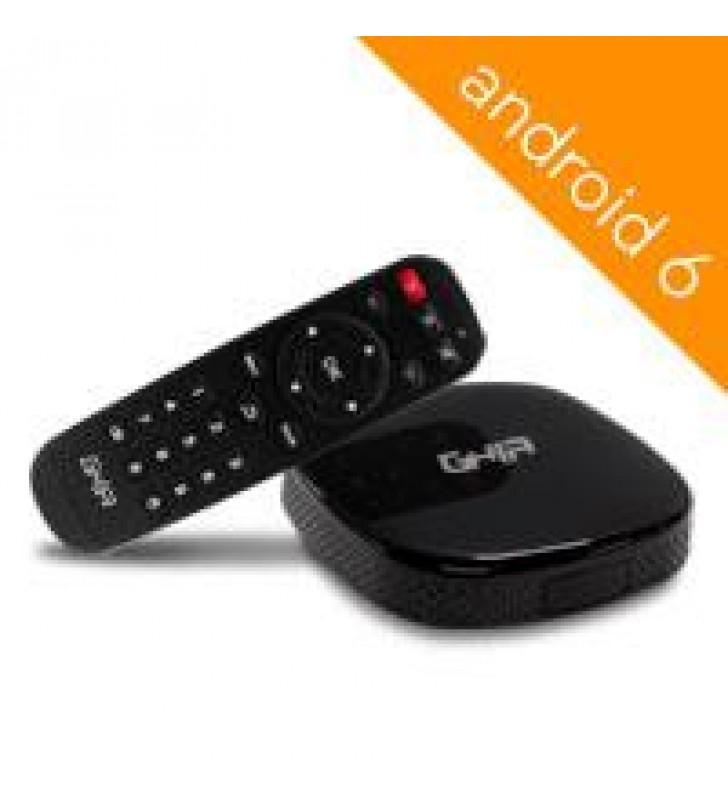 SMART TV BOX GHIA ANDROID 6 /QUADCORE/1GB/8GB/LAN/WIFI/HDMI/AV/CR/NEGRO