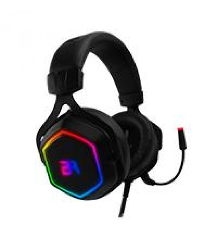 AUDIFONOS GAMING HESIX BALAM RUSH SPECTRUM/ACTECK  ON-EAR/USB/7.1 CANALES/RGB/MICROFONO/COLOR NEGRO/