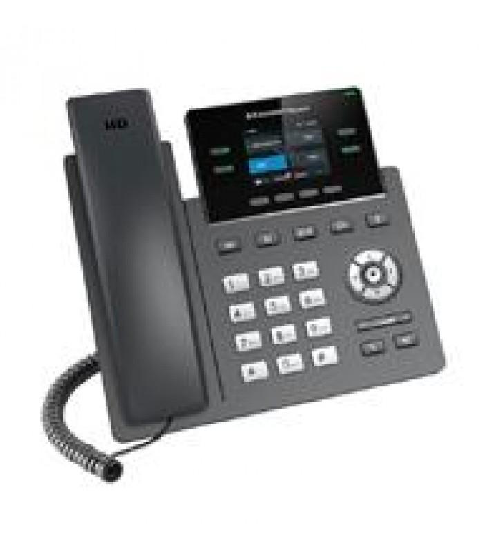 TELEFONO IP 2 LINEAS SIP PANTALLA A COLOR VISTA FRONTAL INTERCAMBIABLE FIRMWARE DUAL GESTION CENTRAL