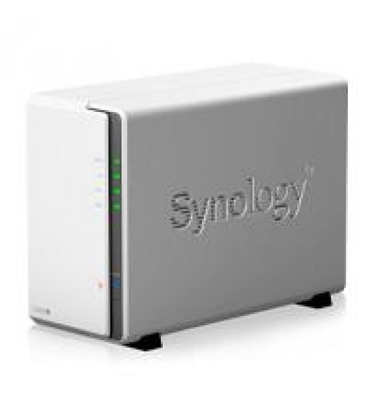 NAS SYNOLOGY DS220J 2 BAHIAS/HASTA 32 TB BRUTOS/ REALTEK RTD1296 NCLEO CUADRUPLE 1.4 GHZ/512 MB DDR4