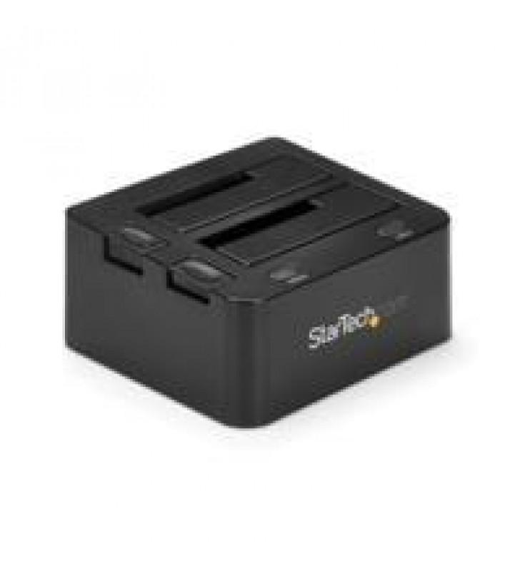 DOCKING STATION USB 3.0 DE 2 BAHiAS SATA DE 2.5 O 3.5 PULGADAS PARA SSD O DISCO DURO BASE DE CONEXIo