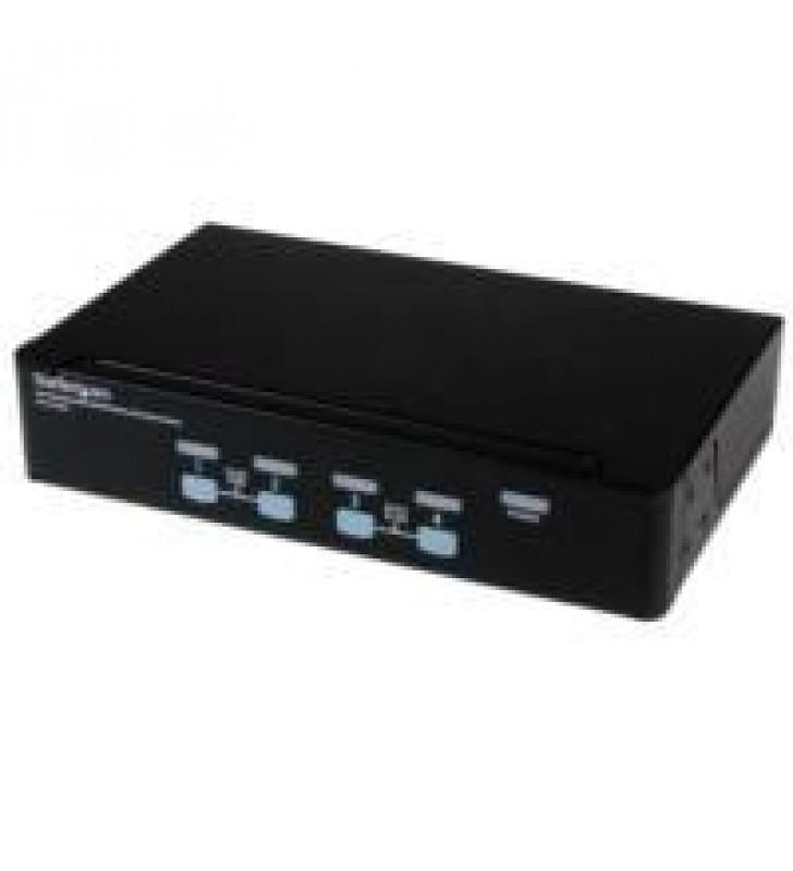 SWITCH CONMUTADOR KVM DE 4 PUERTOS VGA CON AUDIO Y HUB USB 2.0 - MONTAJE EN RACK - STARTECH.COM MOD.
