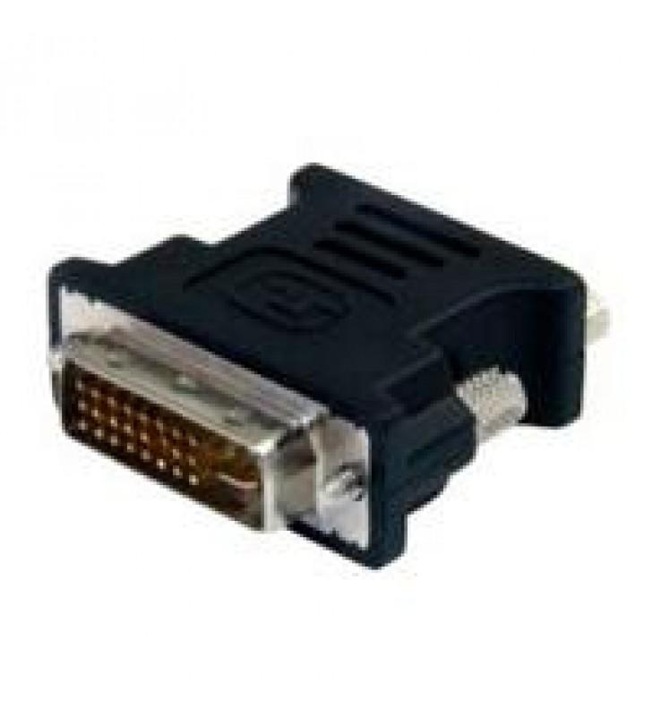 ADAPTADOR CONVERTIDOR PARA PANTALLA DE COMPUTADORA DVI-I A VGA - DVI-I MACHO - HD15 HEMBRA - NEGRO -