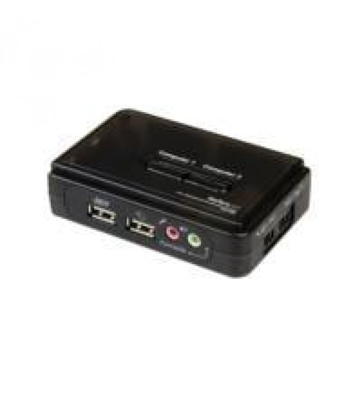 JUEGO CONMUTADOR KVM 2 PUERTOS TODO INCLUIDO - USB - AUDIO Y VIDEO VGA - 2X USB A HEMBRA - 2X MINI U
