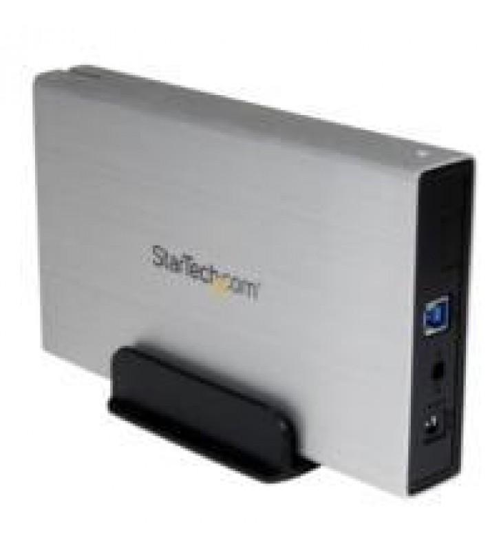 CAJA CARCASA DE ALUMINIO USB 3.0 DE DISCO DURO HDD SATA 3 III DE 3.5 PULGADAS EXTERNO UASP - PLATEAD