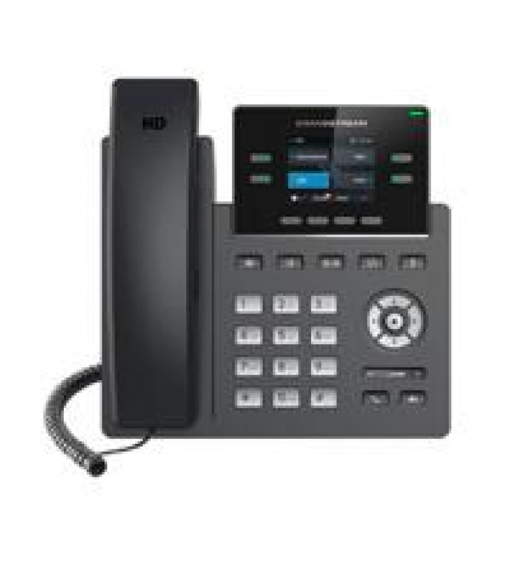 TELEFONO IP 2 LINEAS SIP PANTALLA A COLOR WIFI DOBLE BANDA VISTA FRONTAL INTERCAMBIABLE FIRMWARE DUA