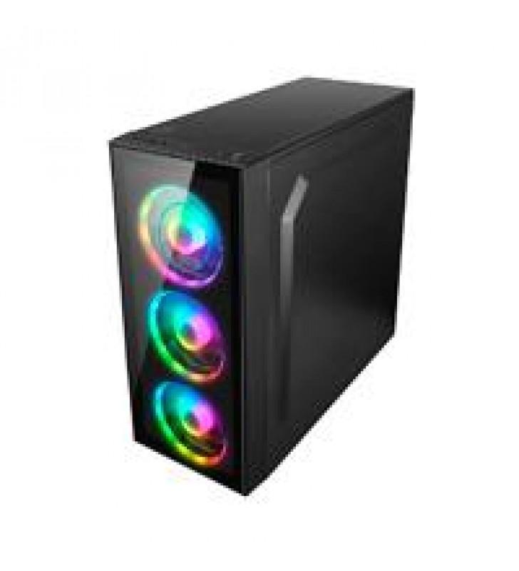 GABINETE MEDIA TORRE/ATX/MICRO ATX/MINI ITX/ BALAM RUSH SPECTRUM/ACTECK/ 3 VENTILADORES RGB/USB 3.0/