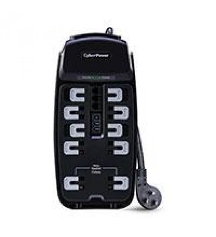 SUPRESOR DE PICOS. CYBERPOWER (CSP1008T) 10 CONTACTOS. 2850 JOULES. PROTECCION TELEFONICA FILTRO DE