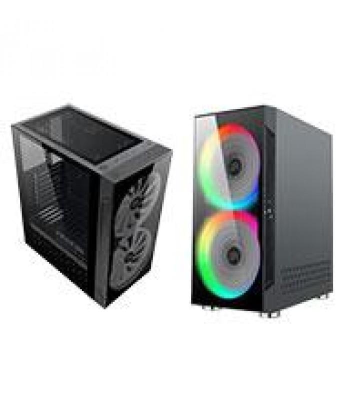 GABINETET BALAM RUSH GAMING MEDIA TORRE ATX/MICRO ATX/MINI ITX/2 VENT RGB/USB 3.0/ KRAKEN/COLOR NEGR
