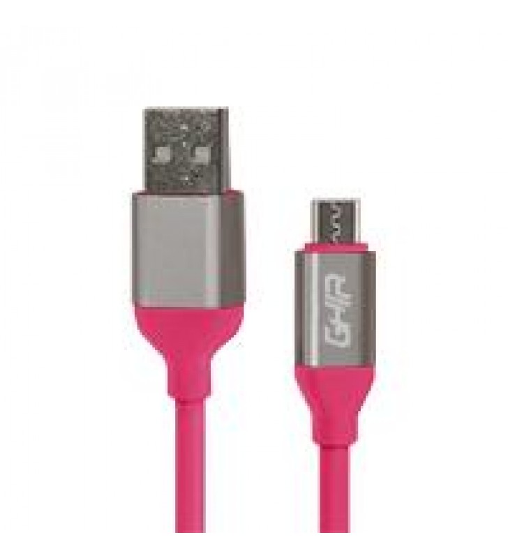 CABLE MICRO USB GHIA 1M COLOR ROSA