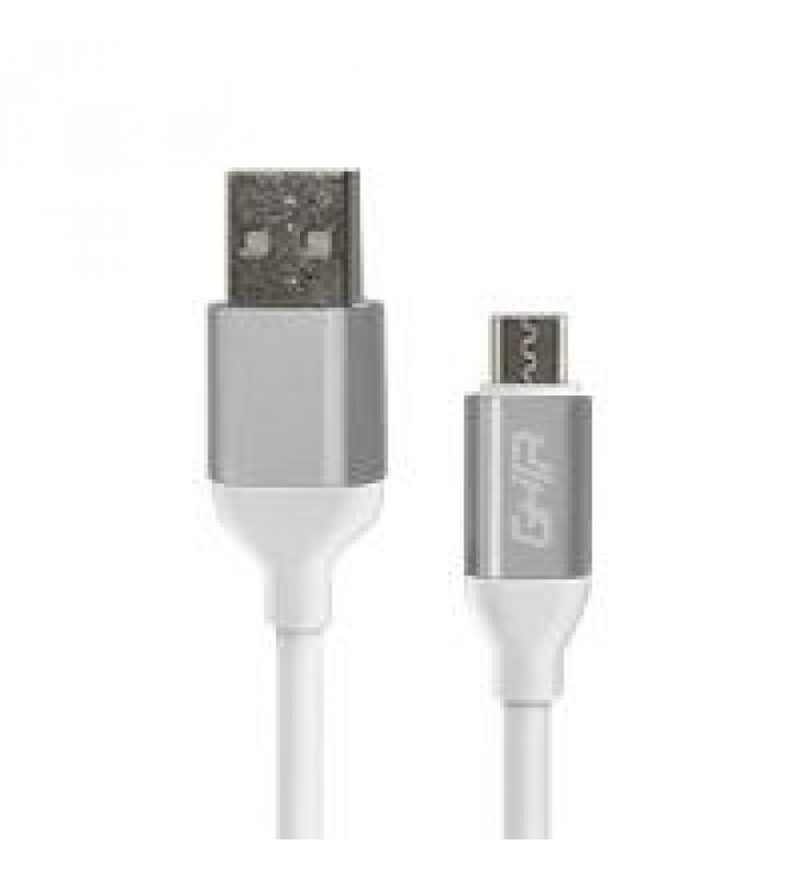 CABLE MICRO USB GHIA 1M COLOR BLANCO