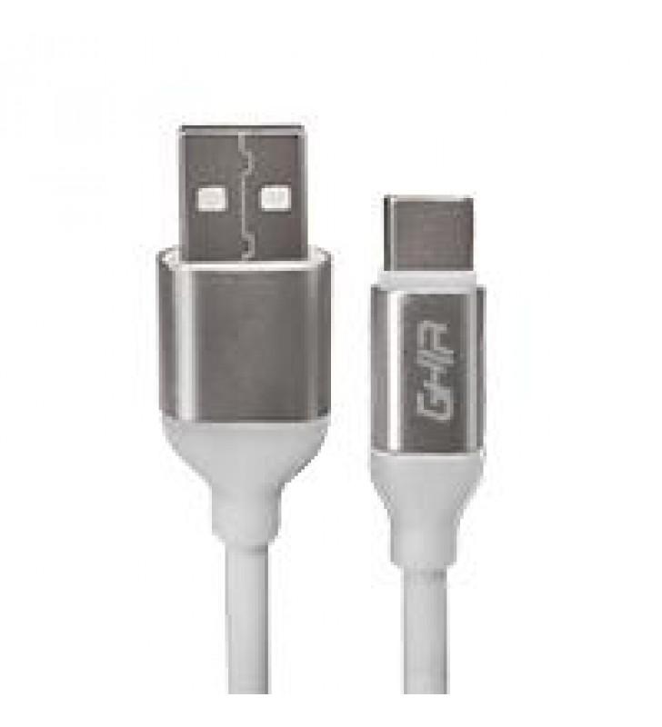 CABLE USB TIPO C GHIA 1M COLOR BLANCO