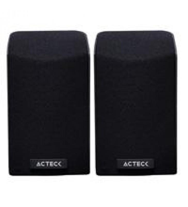 BOCINAS ACTECK-E/ENTRY 750/ MULTIMEDIA 2.0 USB/1 W/ 3.5MM/ CONTROL DE VOLUMEN/COLOR NEGRO/AC-929103