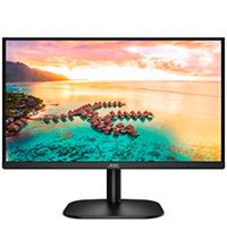 MONITOR LED IPS AOC 24 NEGRO / HDMI Y VGA / ASPECTO 16:9 / TIEMPO DE RESPUESTA 7 MS / RESOLUCION 192