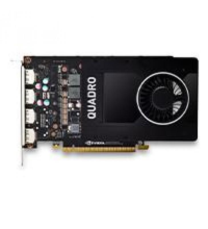 TARJETA DE VIDEO PNY NVIDIA QUADRO P2200/PCIE X16 3.0/5 GB/GDDR5X/4 DP 1.4/GAMA ALTA/DISENO