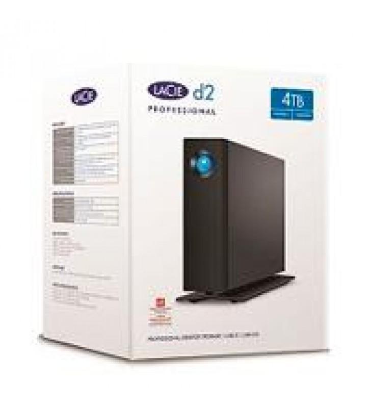 DD EXTERNO LACIE D2 PROFESSIONAL 4TB 3.5 USB 3.1 TIPO-C/USB 3.0 NEGRO/WIN/MAC/ADAPT DE ALIMENTACION