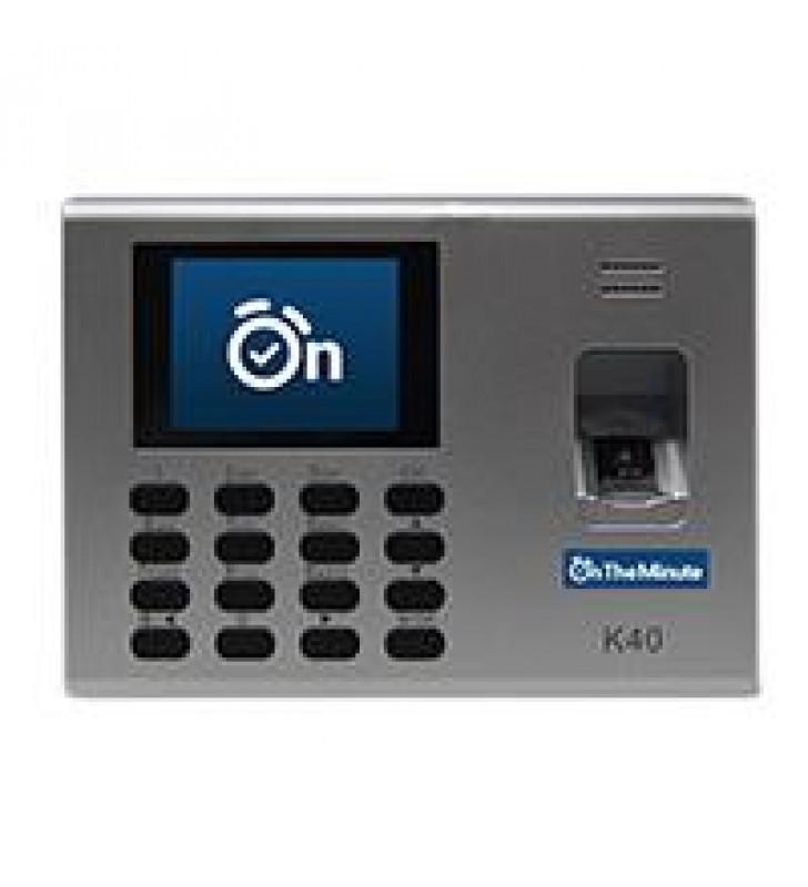 ON THE MINUTE 4.5 K40 CHECADOR HUELLA/RFID/USB - 25 EMPLEADOS