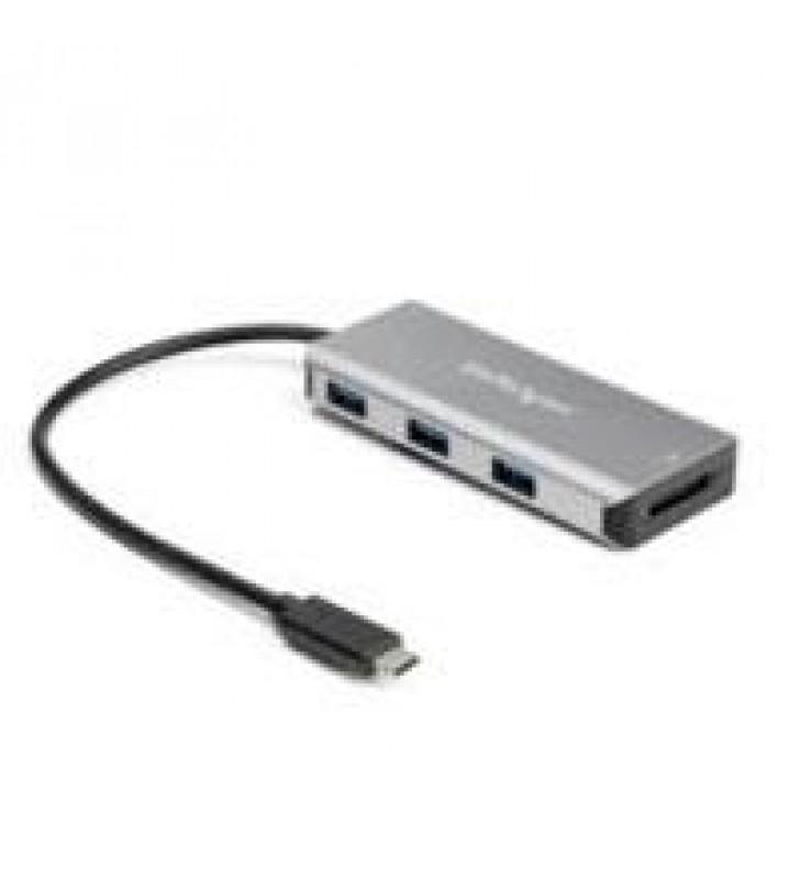 ADAPTADOR HUB USB-C DE 3 PUERTOS 3X USB-A - CON CABLE DE 25CM Y LECTOR DE TARJETAS SD - 10GBPS - STA