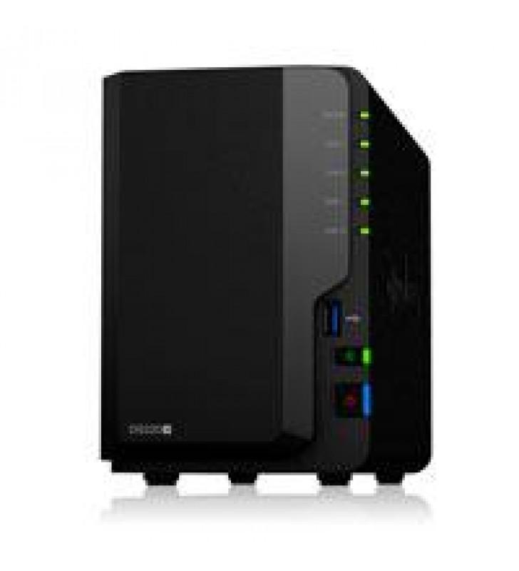 NAS SYNOLOGY DS220+/  2 BAHIAS DOBLE NUCLEO HASTA 2.9 GHZ 2GB DDR4 AMPLIABLE HASTA 6GB/2 LAN GIGABIT