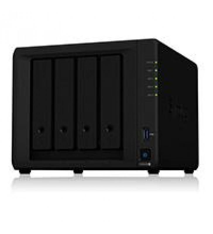 NAS SYNOLOGY DS920 /4 BAHIAS NCLEO CUADRUPLE HASTA 2.7GHZ/ HASTA 64TB 4GB DDR4 AMPLIABLE HASTA 8GB/