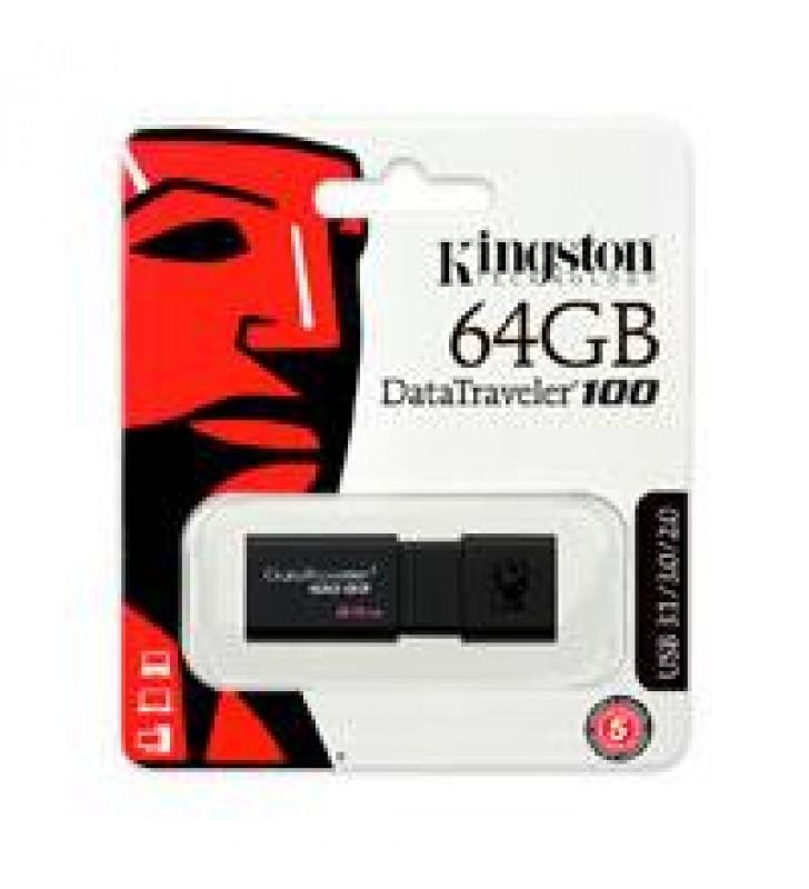 MEMORIA KINGSTON 64GB USB 3.0 ALTA VELOCIDAD / DATATRAVELER 100 G3 NEGRO
