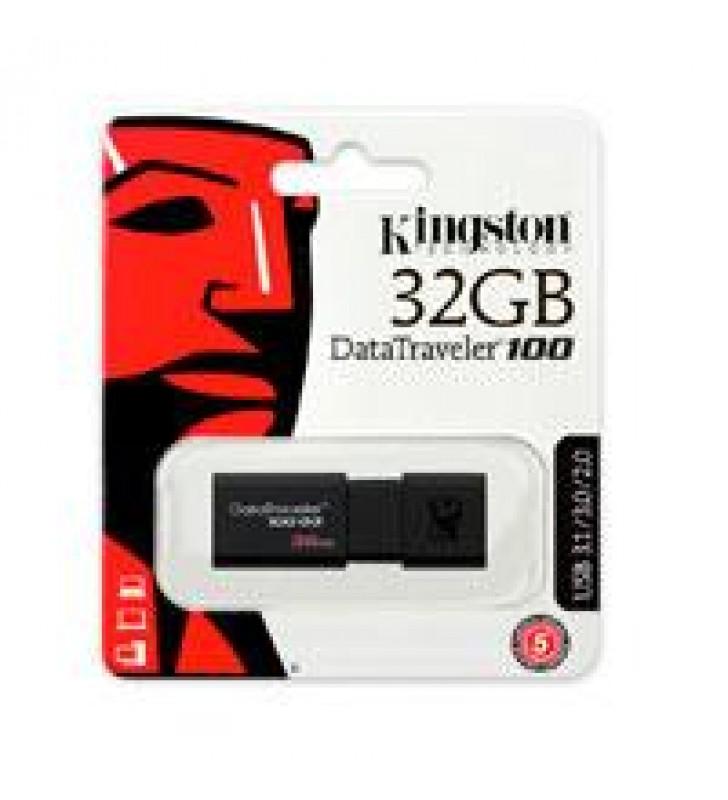 MEMORIA KINGSTON 32GB USB 3.0 ALTA VELOCIDAD / DATATRAVELER 100 G3 NEGRO