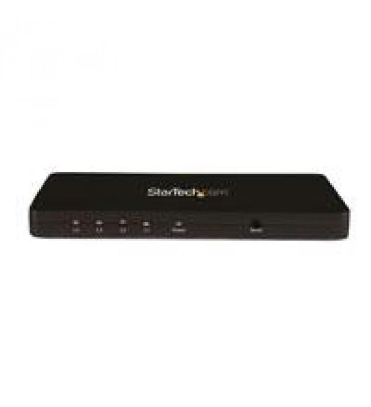 DIVISOR HDMI DE 4 PUERTOS DE VIDEO 4K - SPLITTER MULTIPLICADOR 1X4 HDMI DE ALUMINIO SoLIDO - 4K @ 30