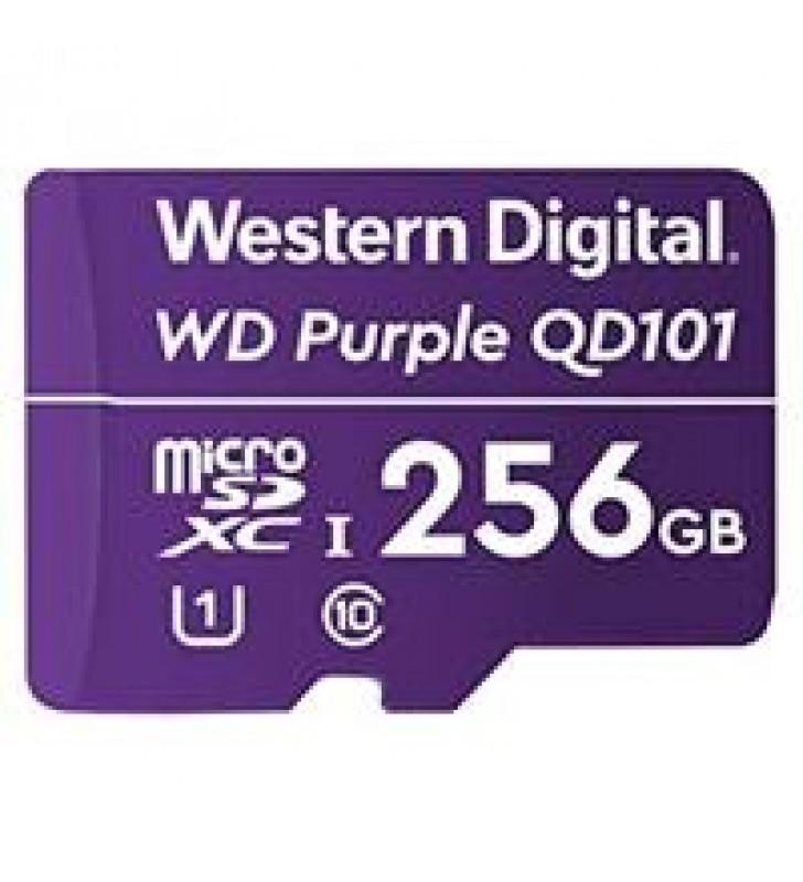 MEMORIA WD 256GB MICRO SDXC PURPLE SC QD101 VIDEOVIGILANCIA 24/7 CLASE 10 U1 LECT 50MB/S ESC 40MB/S