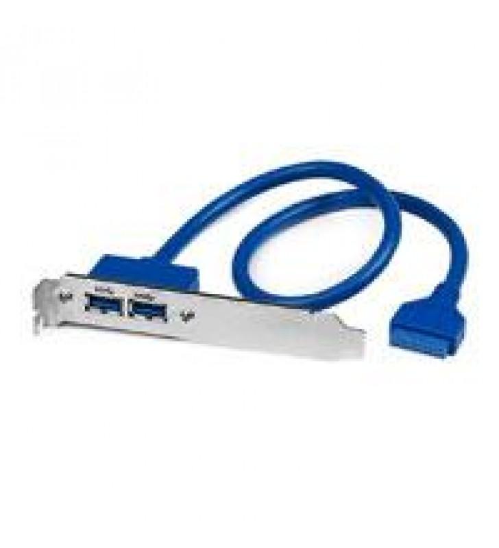 BRACKET DE  2 PUERTOS USB 3.0 SUPERSPEED CON CONEXIoN A TARJETA MADRE - 2X USB 3.0 A HEMBRA - IDC 20