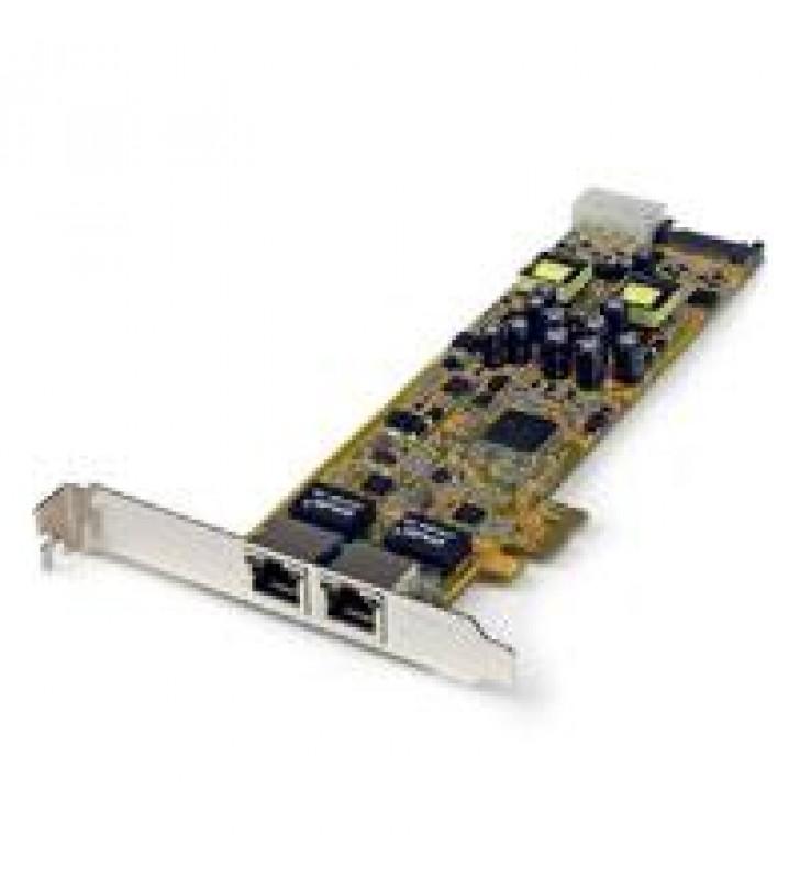 TARJETA ADAPTADOR RED POE/PSE PCI EXPRESS PCIE GIGABIT ETHERNET 2 PUERTOS RJ45 - 1X LP4 MACHO - 1X C