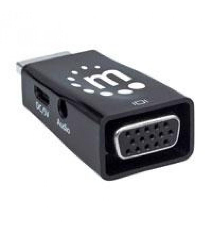 CONVERTIDOR HDMI A VGA CON SALIDA DE AUDIO