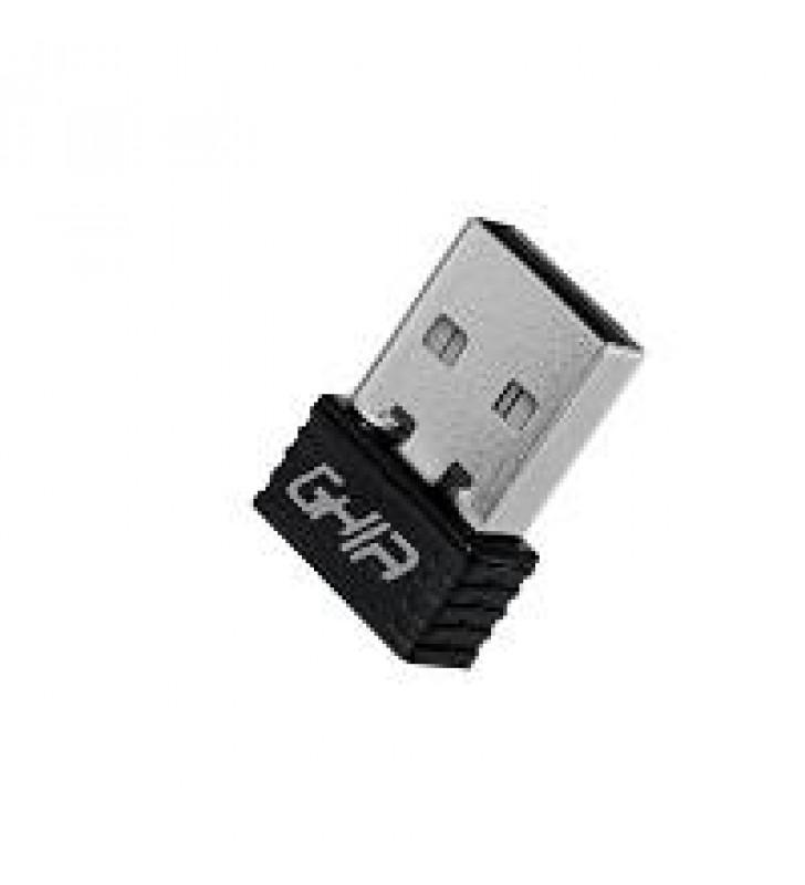 ADAPTADOR DE RED GHIA NANO USB 2.0 INALAMBRICO 150 MBPS