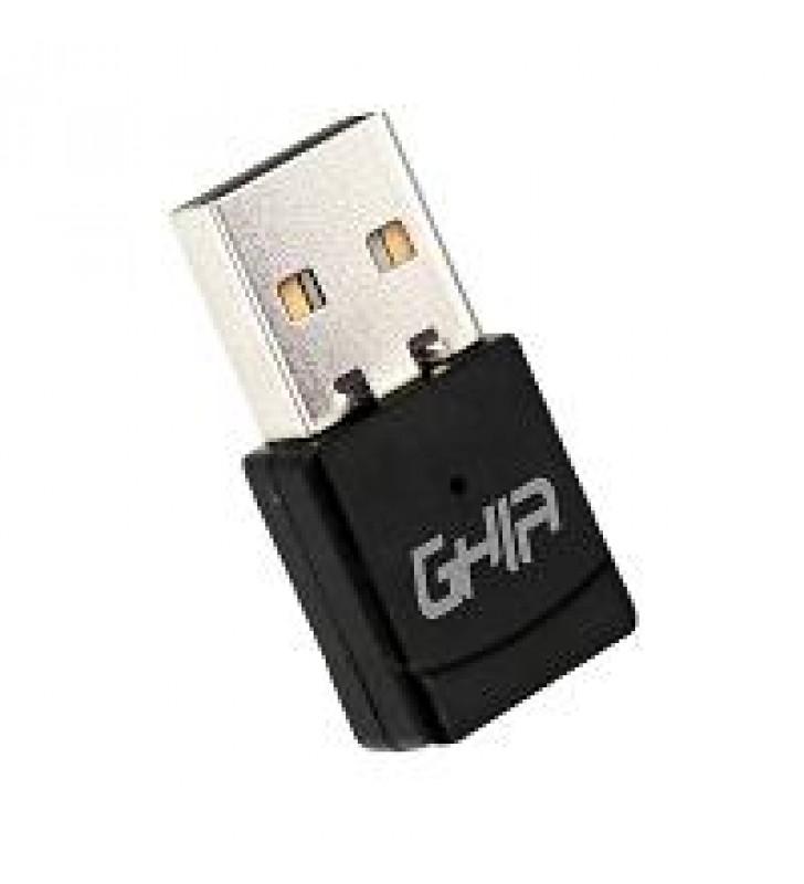 ADAPTADOR DE RED GHIA USB 2.0 INALAMBRICO DUAL BAND 600 MBPS ALTA VELOCIDAD