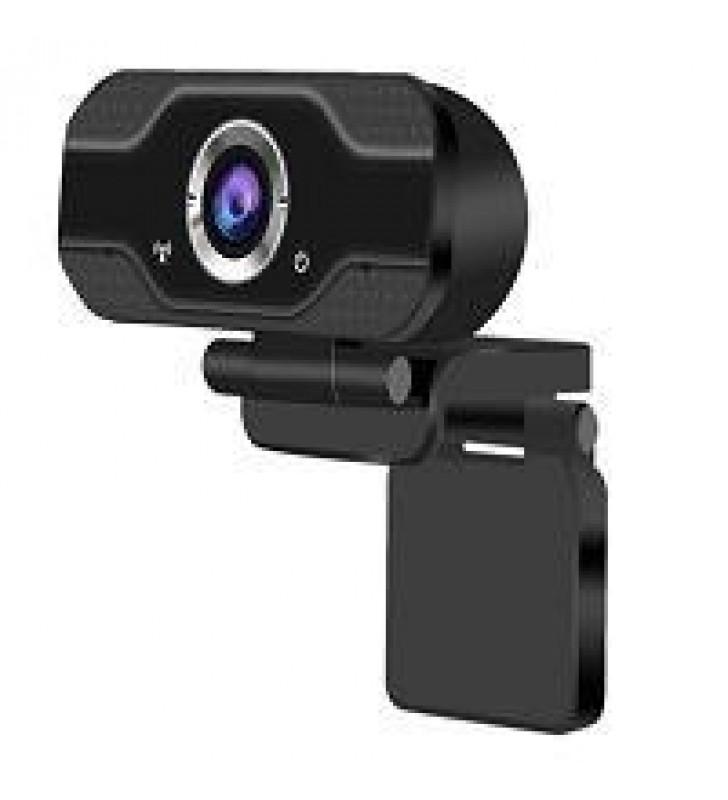 CAMARA WEB GHIA 1080P / WEBCAM USB IDEAL PARA EQUIPOS DE ESCRITORIO Y LAPTOPS / COLOR NEGRO / MICROF