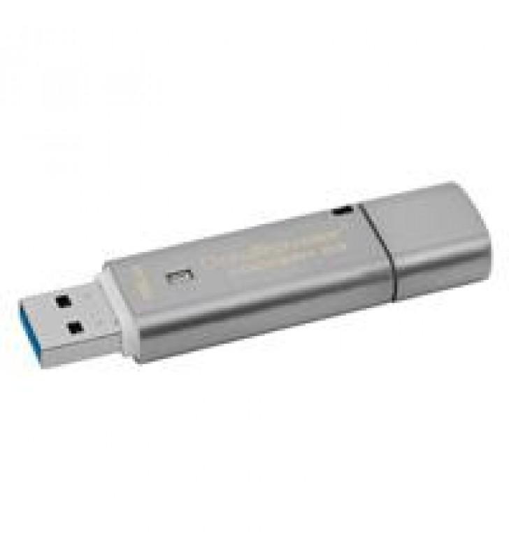 MEMORIA KINGSTON 16GB USB 3.0 DATATRAVELER LOCKER G3 /HARDWARE DE ENCRIPTACION /USB TO CLOUD/ GRIS