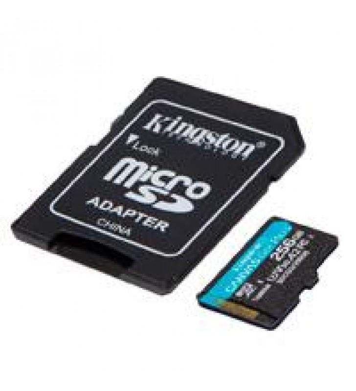 MEMORIA KINGSTON MICRO SDXC CANVAS GO! PLUS 256GB UHS-I U3 V30 A2 CLASE 10 C/ADAPTADOR
