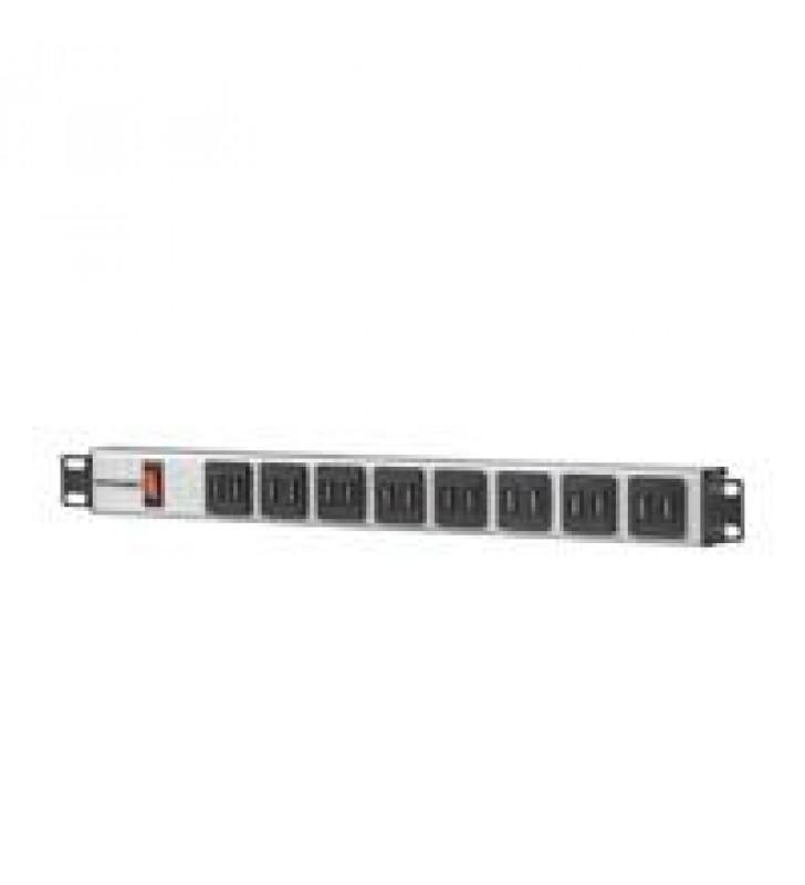 BARRA MULTICONTACTO CON 16 SALIDAS USB TIPO A PARA RACK DE 19 (NEMA 5-15)