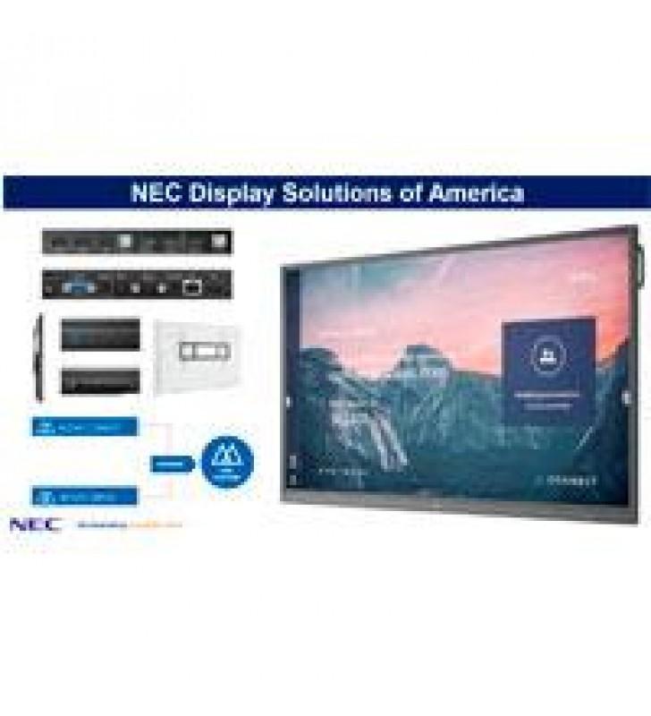 MONITOR INTERACTIVO DE 86 NEC CB861Q UHD 3840 X2169 350 CD/M2 HDMI (3) VGA RJ-45 RS-232 20 PUNTOS TA