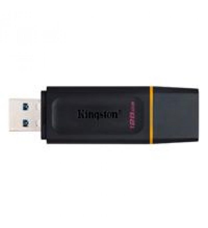 MEMORIA KINGSTON 128GB USB 3.2 ALTA VELOCIDAD / DATATRAVELER EXODIA NEGRO