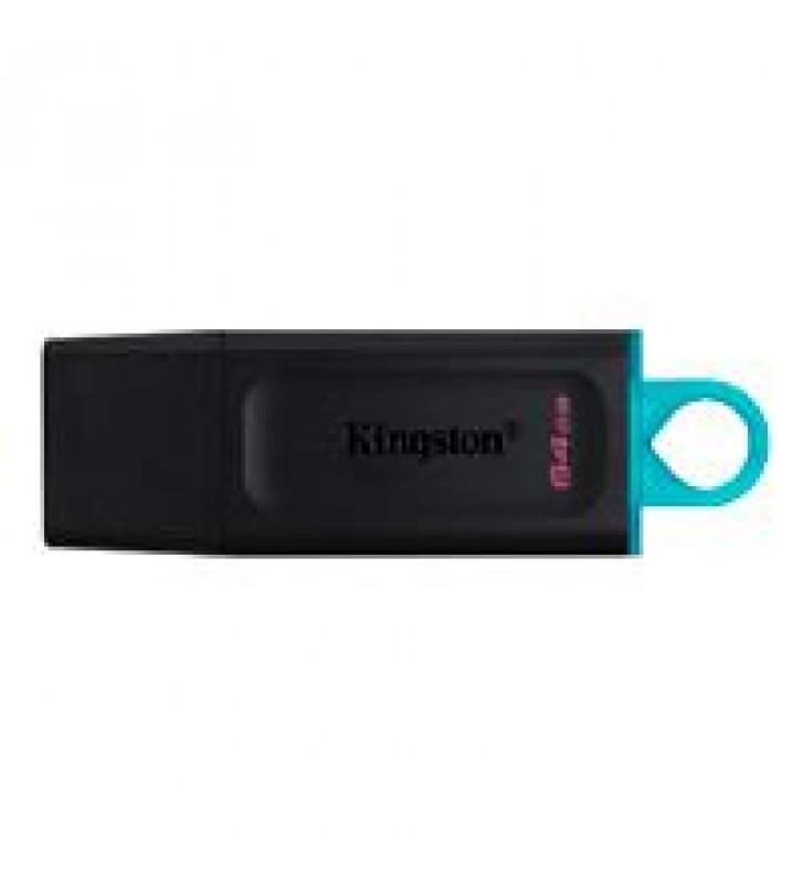 MEMORIA KINGSTON 64GB USB 3.2 ALTA VELOCIDAD / DATATRAVELER EXODIA NEGRO