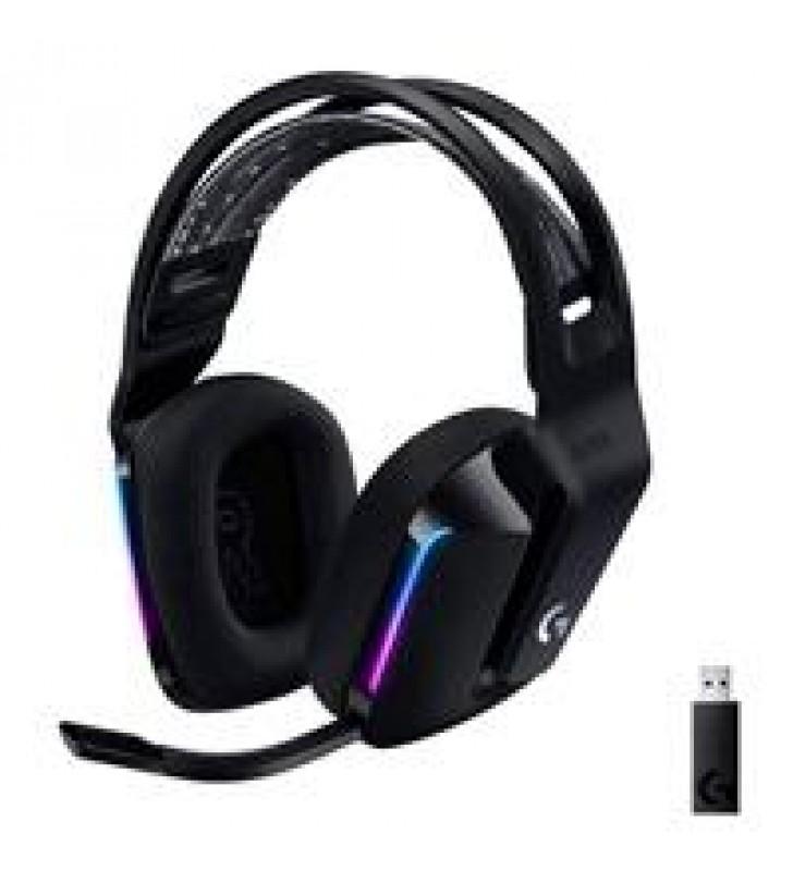 AUDIFONOS GAMING TIPO DIADEMA LOGITECH G733 LIGHTSPEED BLACK INALAMBRICO USB 1MS RECARGABLE 29HRS DE