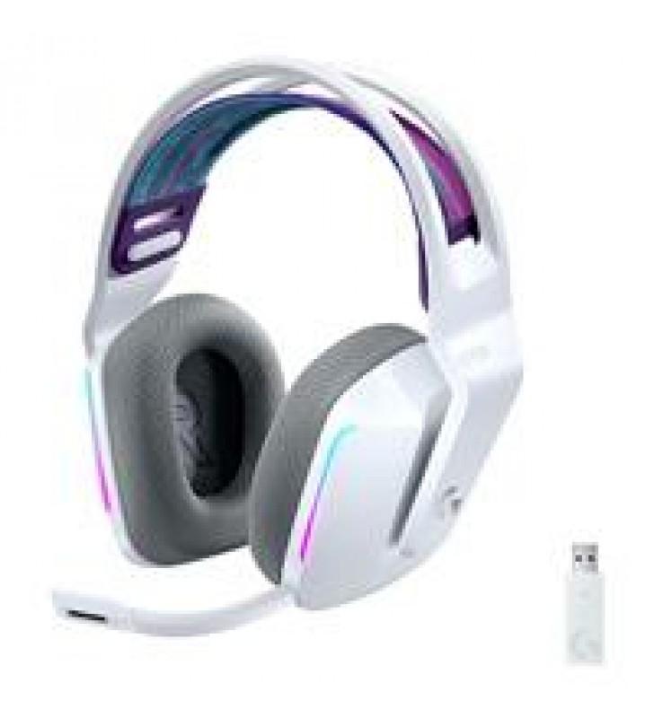 AUDIFONOS GAMING TIPO DIADEMA LOGITECH G733 LIGHTSPEED WHITE INALAMBRICO USB 1MS RECARGABLE 29HRS DE
