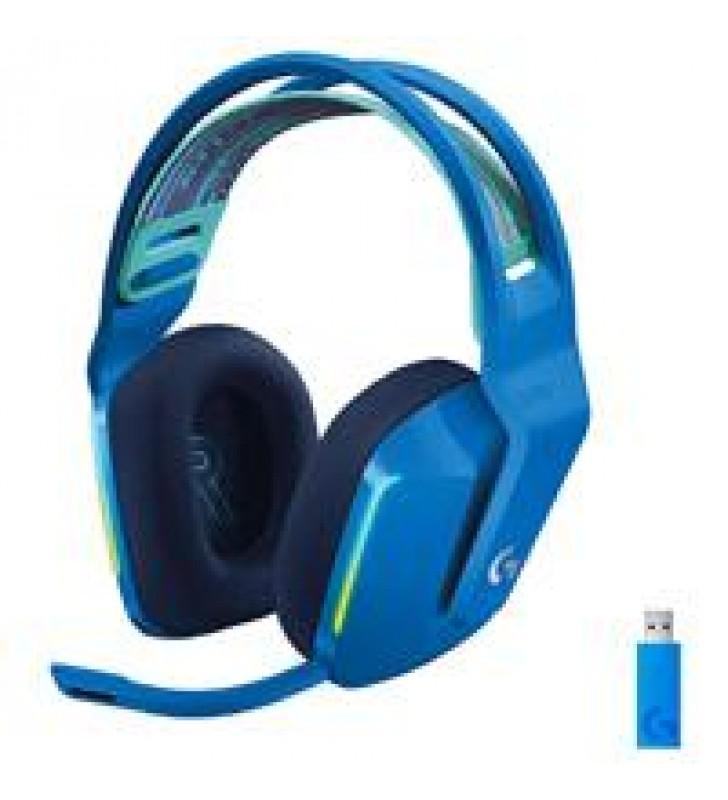 AUDIFONOS GAMING TIPO DIADEMA LOGITECH G733 LIGHTSPEED BLUE INALAMBRICO USB 1MS RECARGABLE 29HRS DE