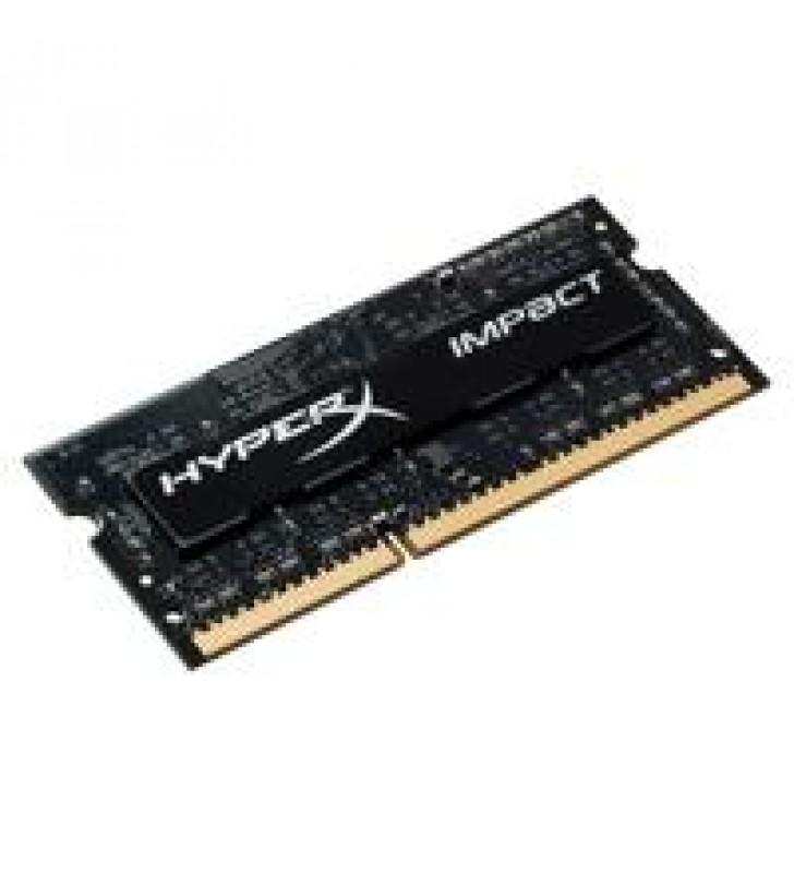 MEMORIA KINGSTON SODIMM DDR4 4GB 2400MHZ HYPERX IMPACT BLACK CL14 260PIN 1.2V