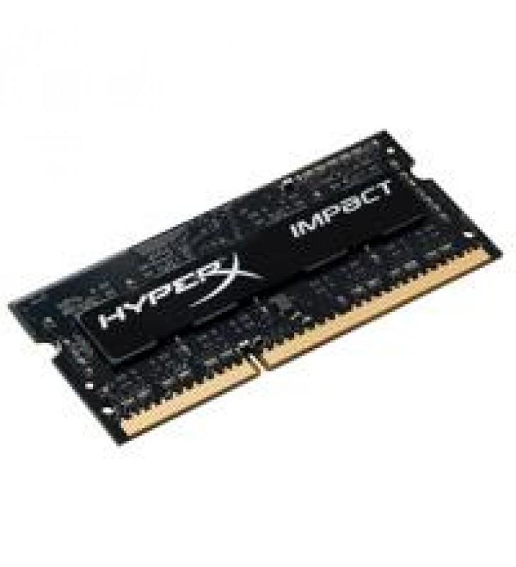 MEMORIA KINGSTON SODIMM DDR3L 8GB 1600MHZ HYPERX IMPACT BLACK CL19 204PIN 1.35V
