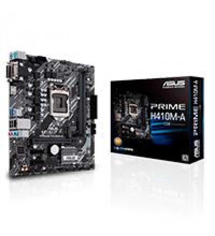 MB ASUS H410 INTEL S-1200 10A GEN/2X DDR4 2666/HDMI/D-SUB/DVI//M.2/4X USB3.2/MICRO ATX/GAMA BASICA