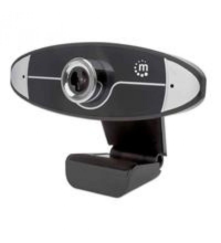 WEBCAM UN MEGAPiXEL 720P HD CONEXIoN PLUG AND PLAY POR USB-A MICRoFONO INTEGRADO BASE AJUSTABLE 30 F