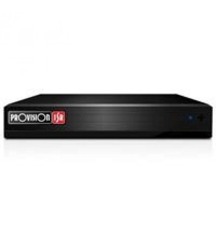 DVR PROVISION ISR 8 CH + 2 CH IP 2 MP LITE SALIDA HDMI Y VGA (AHD / CVI / TVI / CVBS + IP) H.265 HIB