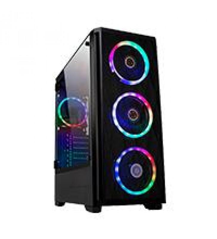 GABINETE GAMER TORRE BALAM RUSH/ACTECK/ E-ATX/ATX/MICRO-ATX/MINI-ITX/4 VENTILADORES/ARGB/ USB 3.0/PA